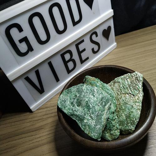 Pedra Fuchsite Bruta - Equilíbrio emocional