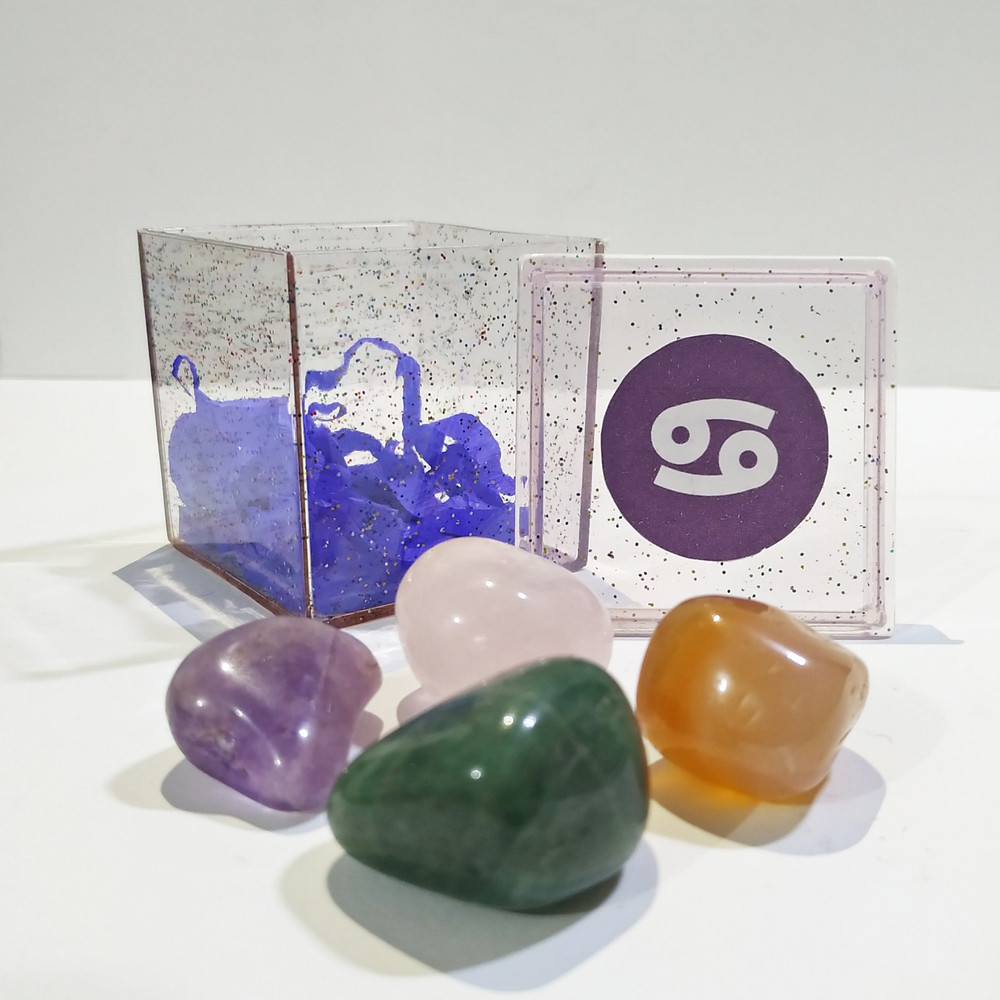 O kit do signo de Câncer contém 4 pedras que potencializam suas qualidades e neutralizam os excessos