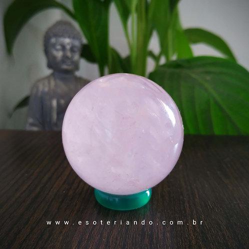 Esfera de Quartzo 145g - Rosa amor e autoestima