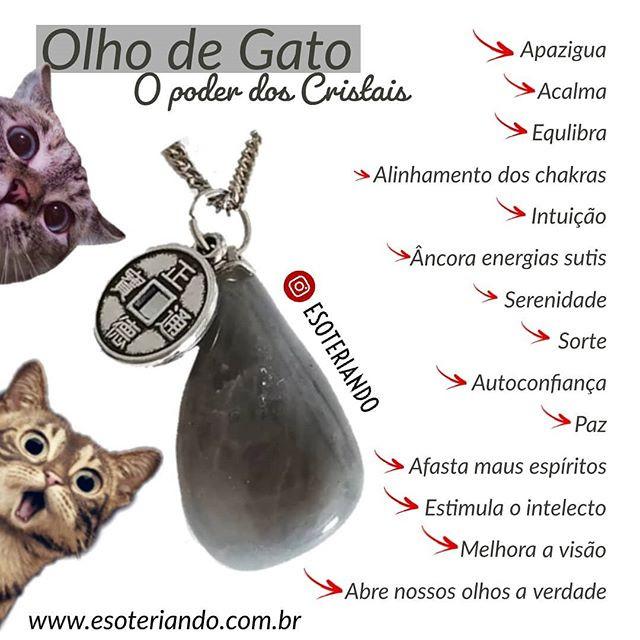 Efeitos Esotéricos e psíquicos do cristal Olho de Gato