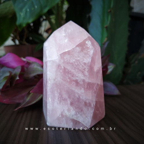Ponta de quartzo gerador rosa 345g