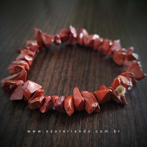 Pulseira Jaspe Vermelho (vitalidade e defesa espiritual)