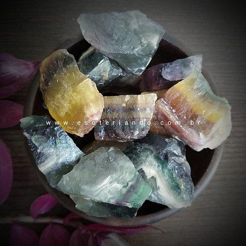Fluorita Arco-íris bruta - Qualidade A