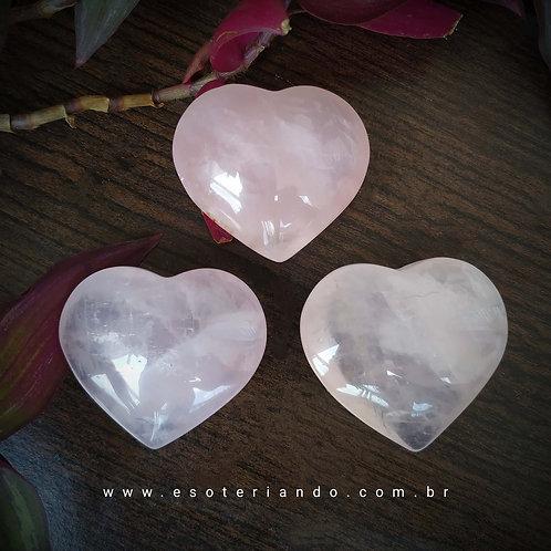 Coração Quartzo Rosa - Amor e Autoestima