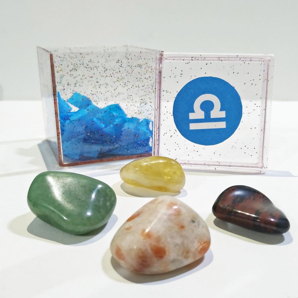 O kit do signo de Libra contém 4 pedras que potencializam suas qualidades e neutralizam os excessos.