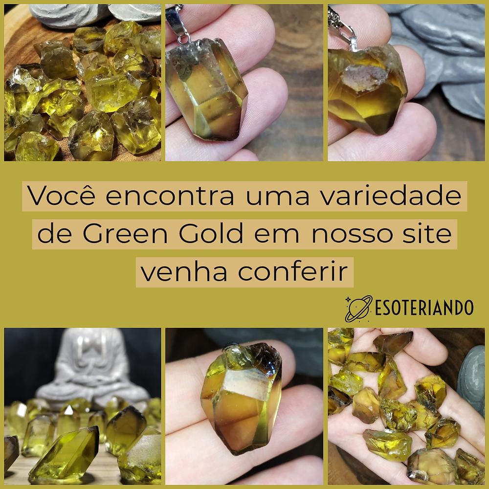 Green Gold a pedra da lei da atração