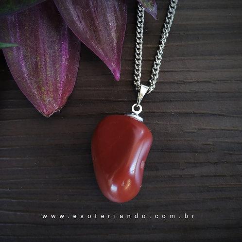 Colar de Jaspe Vermelho ( Vitalidade e coragem)