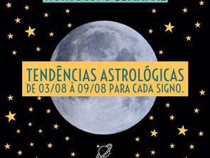 Horóscopo Semanal - 3 á 9/08/2020 - Vênus e mercúrio em evidencia