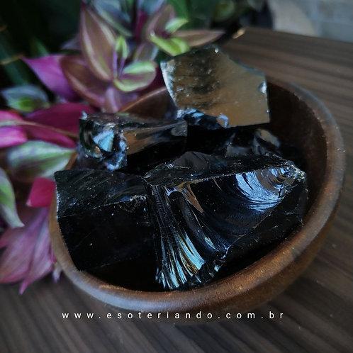 Obsidiana negra bruta - qualidade extra