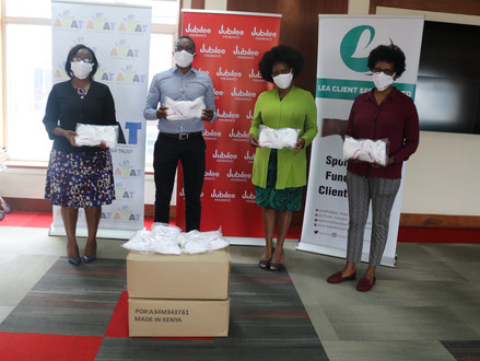 Jubilee Insurance donates face masks to Children living with special needs affected by Covid-19