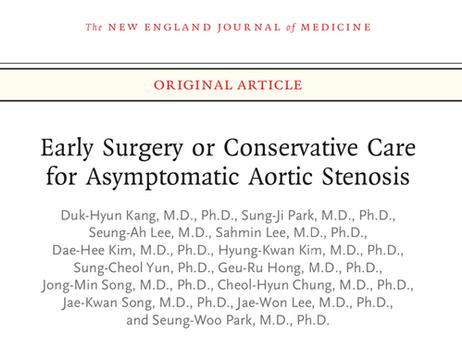 RECOVERY Trial: Deve-se operar paciente com estenose aórtica severa assintomático?