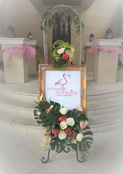 Sign & Floral Installation