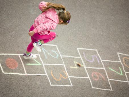 Matemática e a brincadeira da Amarelinha