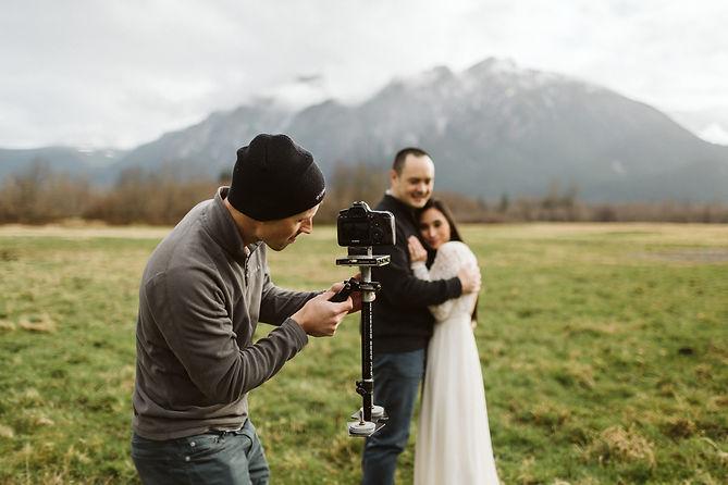Nolan filming up at Mt. Si.