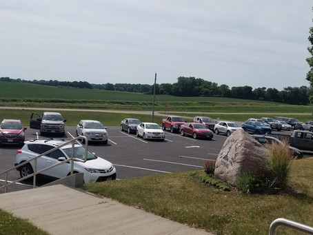 Picture of Parking Lot Service Sunday June 28, 2020