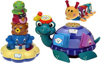 Baby Einstein Animal Stacker, Shapes & Sounds Turtle and Musical Caterpillar