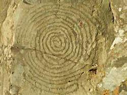 Spiral and Serpent Petroglyph     Cabeceras de Izcagua  La Palma, Canary Islands