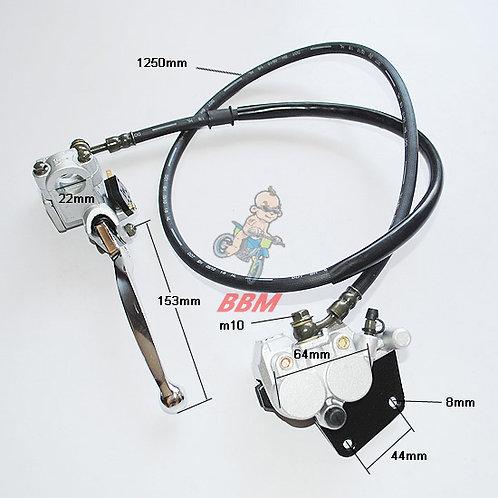 hydraulic rear brake assy for pocket bike