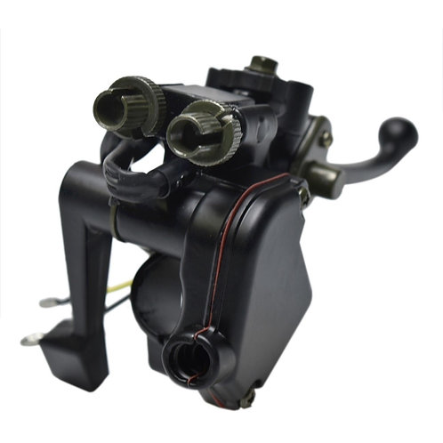 Atv thumb throttle housing with cable brake