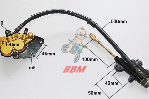 hydraulic rear  brake assy for 110-150cc dirt bike.
