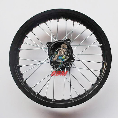 1.85x 14 rear alloy rim with hub