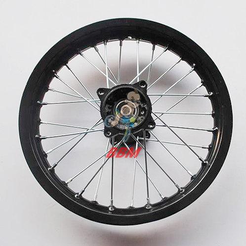 1.85x 14 rear alloy rim with hub