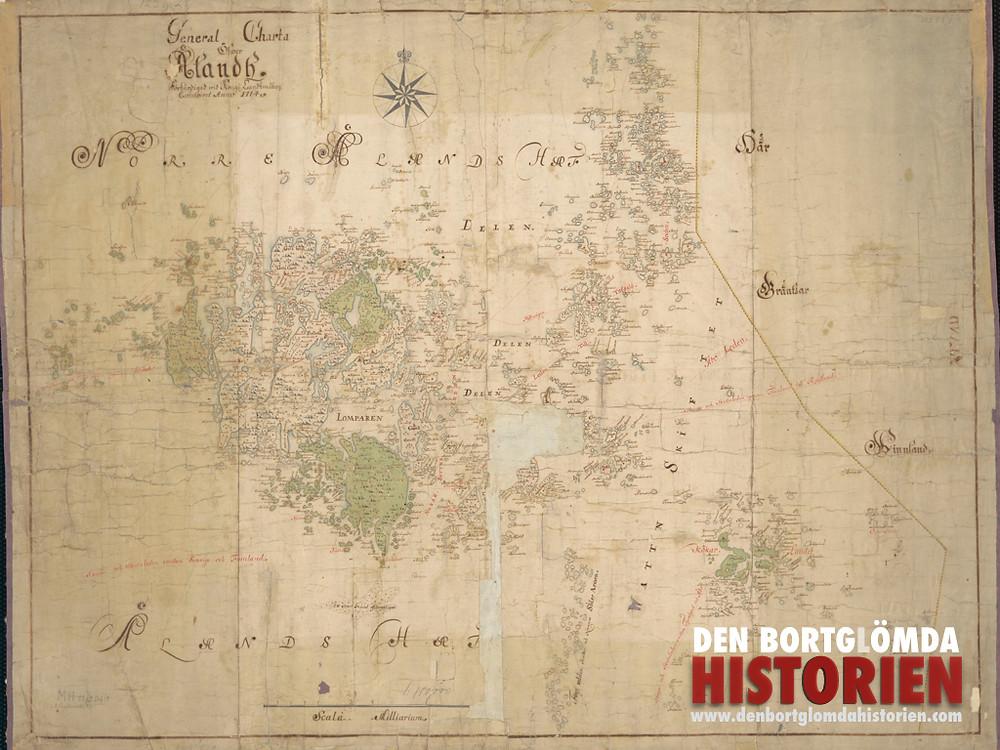 Den förvanskade kartan som användes som bevis av svenskarna