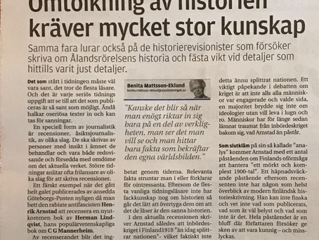 Omtolkningen av Ålands historia kräver stor kunskap