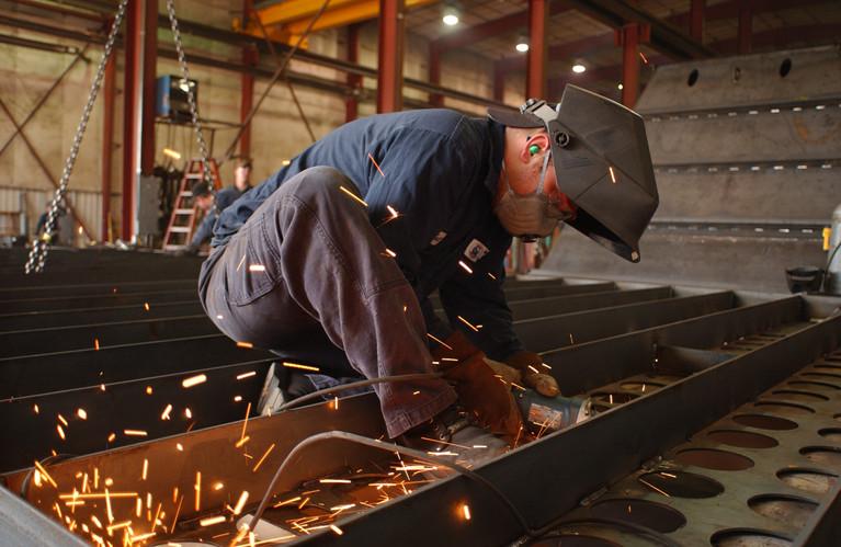 Welding on site