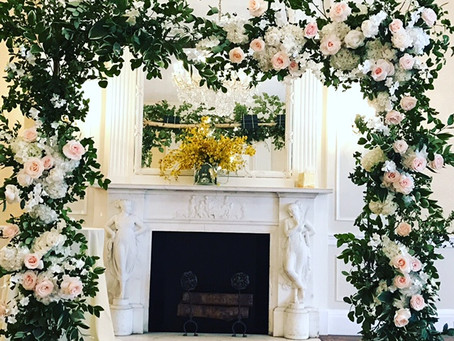 Elegant Wedding Ceremony Floral Arch