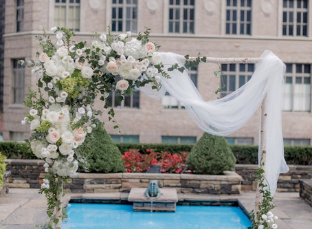 Romantic Blush Pink Wedding / NYC Wedding Florist