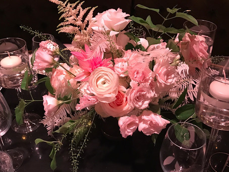 Wedding Flower Arrangements for Diamond Horseshoe NYC