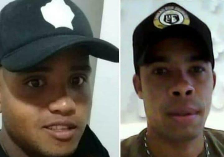 Os trabalhadores Murilo Souza de Oliveira e  Leomar Brito Cordeiro