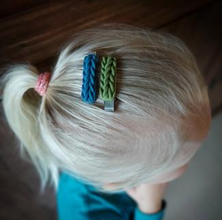 handgemaakte clips - vlechtjes