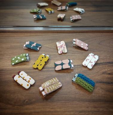 Handgemaakte clips