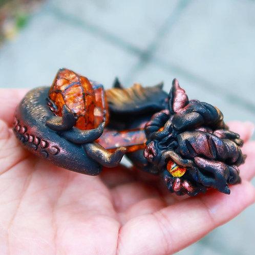 """Molton"" - the guardian dragon of lava crystals"