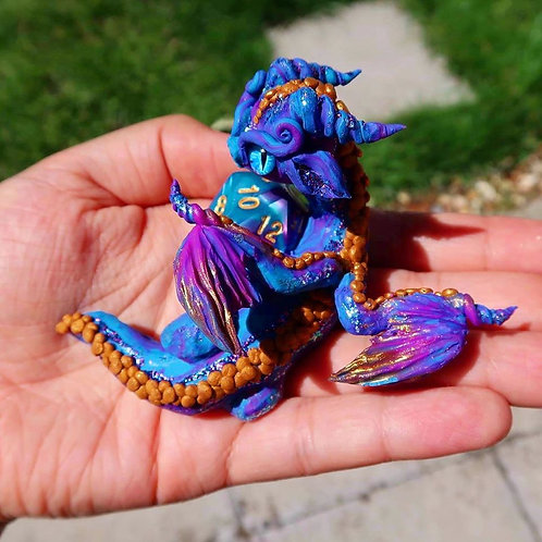 'Viola' - the D&D purple and blue dice dragon!