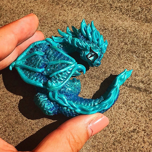 Blue Baby Resin Dragon