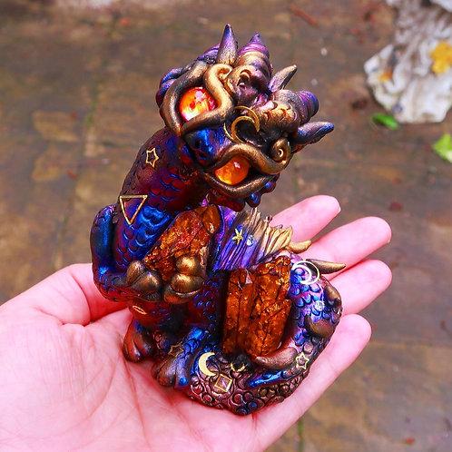 Celestial Opulent Dragon 'Lumios' Sculpture