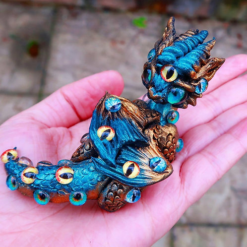 """Dragon Of The All-Seeing Eyes """"Iris"""" Sculpture"""
