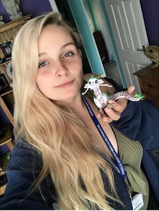 Robyn and her custom dragon!