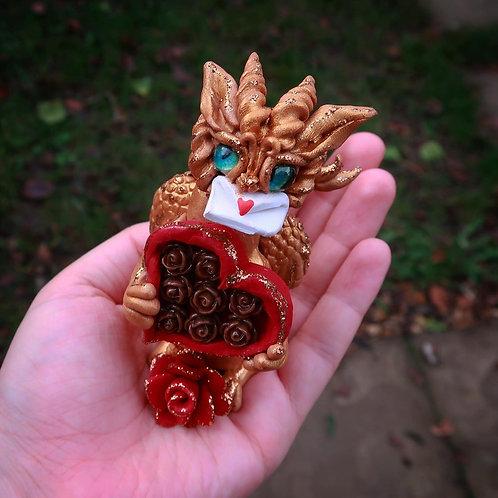 Valentine Dragon 'Cupid' Sculpture