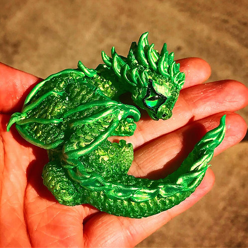 Green Baby Resin Dragon