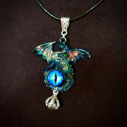 Blue Resin Dragon Eye pendant