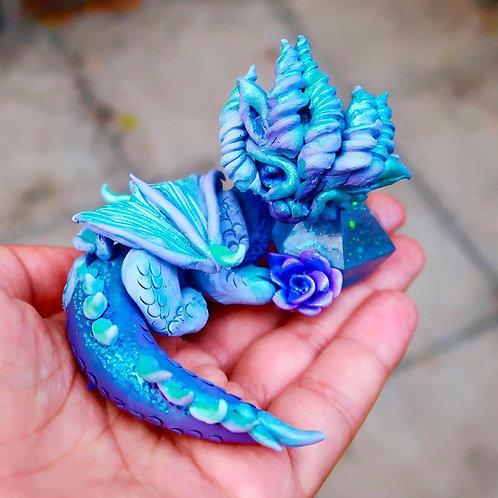 """Moon Rose"" - The enchanting blue and lilac crystal dragon"