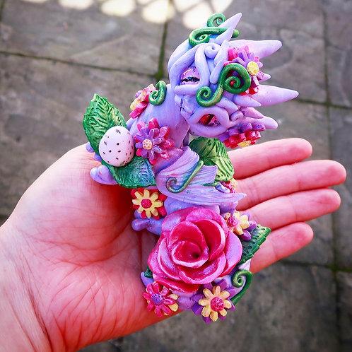 Spring Flower Dragon 'Leila' Sculpture