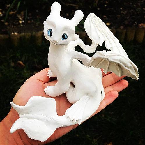 White light dragon popular character ornament