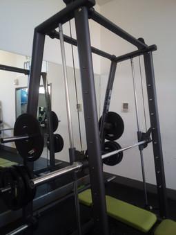extensive gym equipment