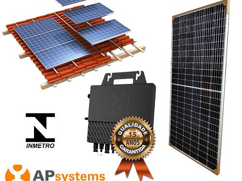 Kit Energia Solar Fotovoltaica 0,5 kwp (67 kw/h mês)