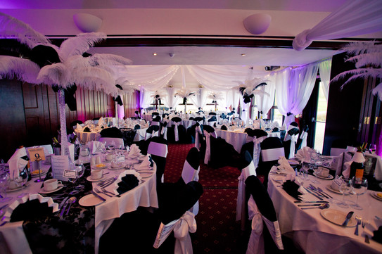 beautifully dressed and accessorised function suite